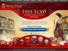 Royal Vegas Pokie lobby